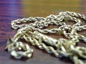 "10"" Gold Rope Bracelet 14K Yellow Gold 2g"